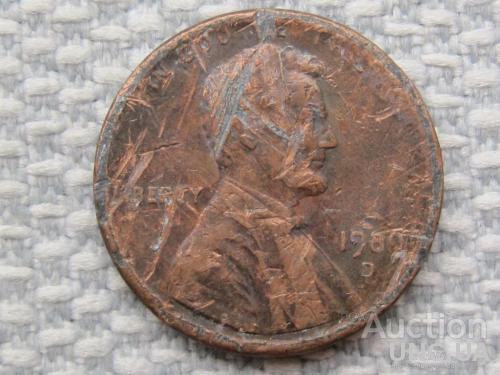США, 1 цент 1989 года D #1692