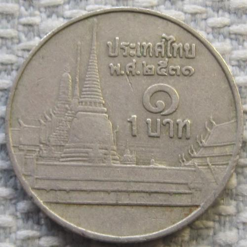 Таиланд 1 бат 1988 года #11261
