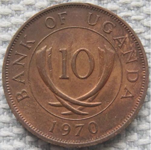 Уганда 10 центов 1970 года #10683