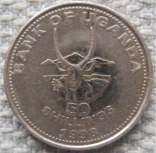 Уганда 50 шиллингов 1998 года #10686