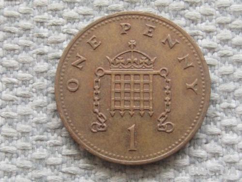 Великобритания 1 пенни 1990 года #5055