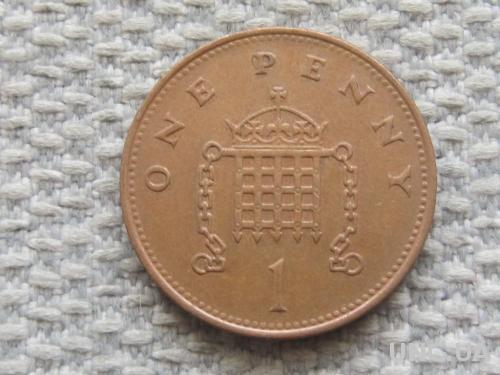 Великобритания 1 пенни 1992 года #5056
