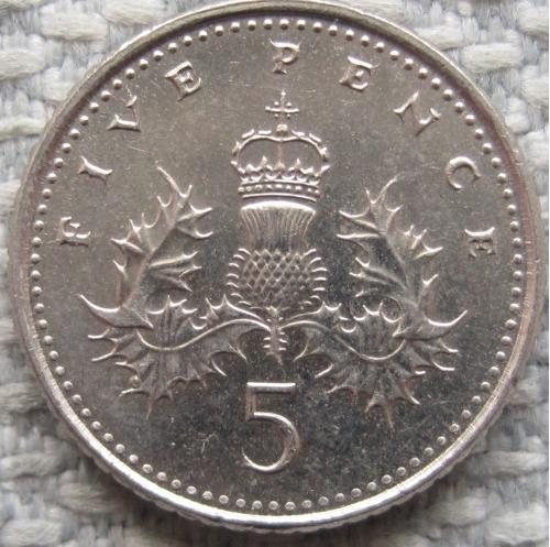 Великобритания 5 пенсов 2004 года #12059