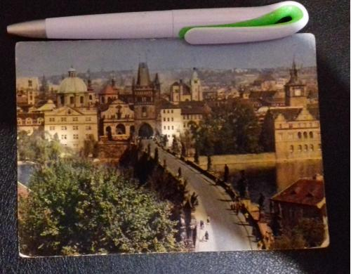 Открытка с фотографией старогородской мостецкой башни на Карловом мосту (Прага)