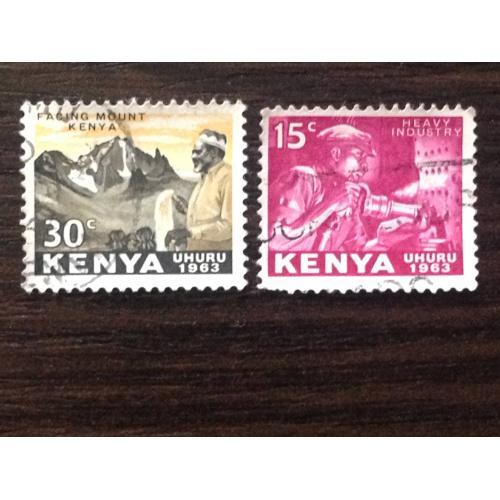 Из серии марок Uhuru 1963. Кения.