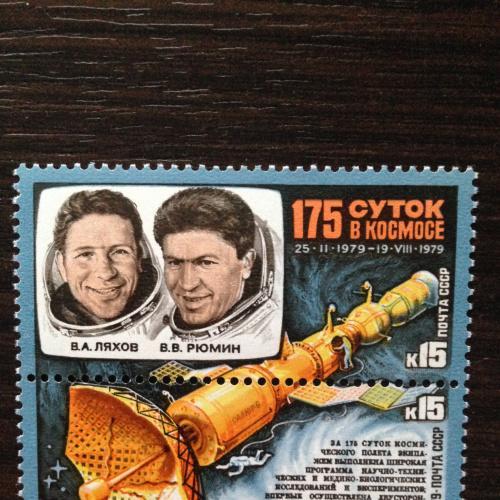 Марка 175 суток в космосе. 1979