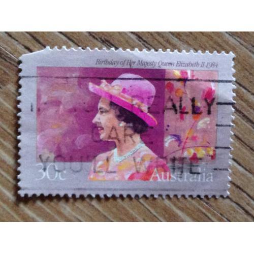 Марка. Австралия. Birthday of Her Majesty Queen Elisabeth II 1984.