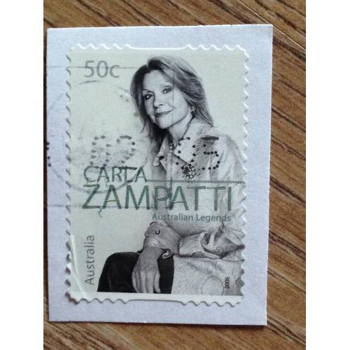 Марка. Австралия. На бумаге. Carla Zampatti.