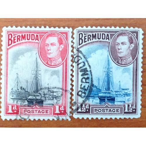 Серия марок. Бермудские острова.
