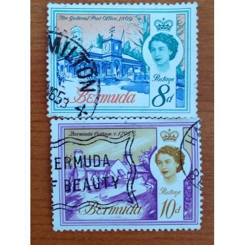 Серия марок. Бермудские острова. 10 и 8 d.