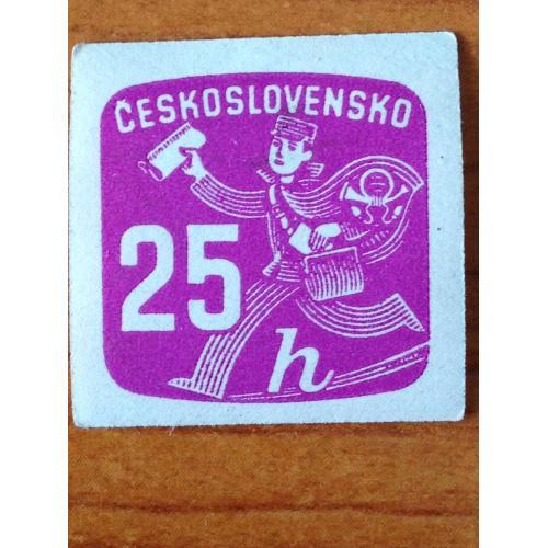 Марка. Чехословакия. 25 h.