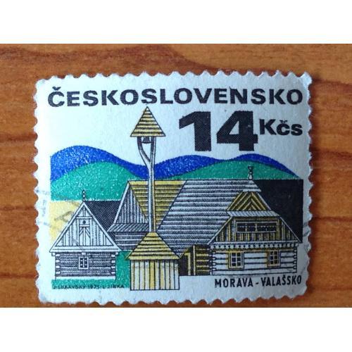 Марка. Чехословакия. Morava-Valassko.