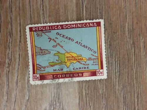 Марка. Доминикана. Карта