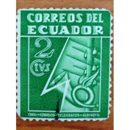Марка. Эквадор. 2 centavos.