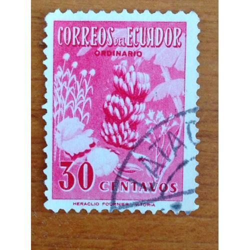 Марка. Эквадор. 30 centavos.
