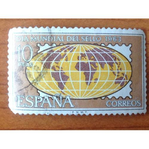 Марка. Испания. Dia mundial del Sello 1963.