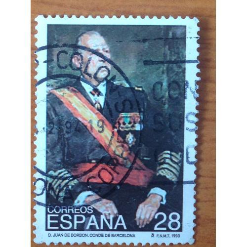 Марка. Испания. Juan de Borbón. 1993 г.