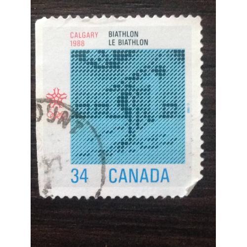 Марка. Канада. Calgary 1988. Biathlon. ®