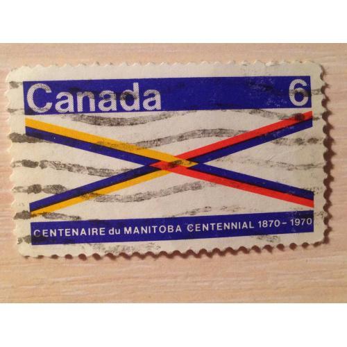 Марка. Канада. Centenaire du Manitoba Centennial 1870-1970.