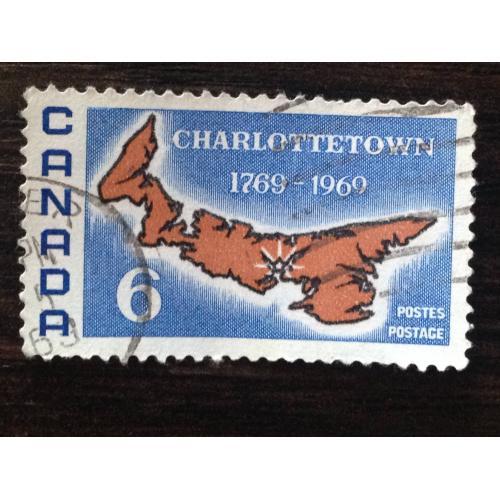 Марка. Канада. Charlottetown 1769-1969. '
