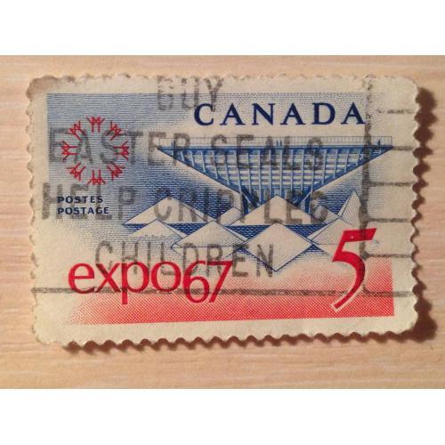Марка. Канада. EXPO 67.