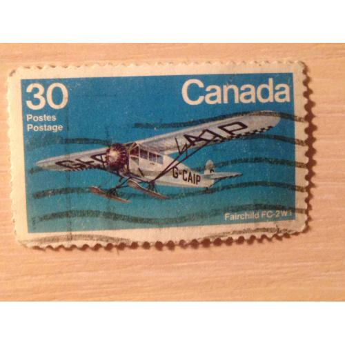 Марка. Канада. Fairchild FC-2W1.