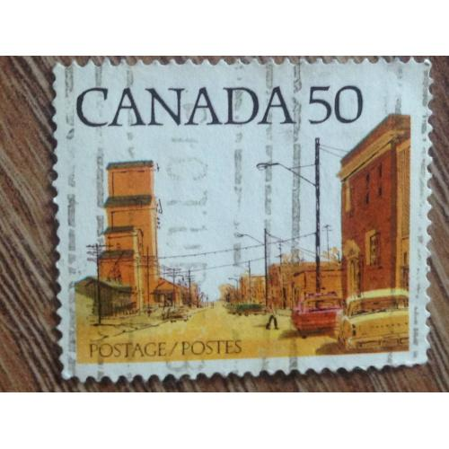 Марка. Канада. Город. '