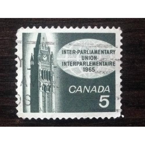 Марка. Канада. Inter-Parliamentary Union 1965.  ®