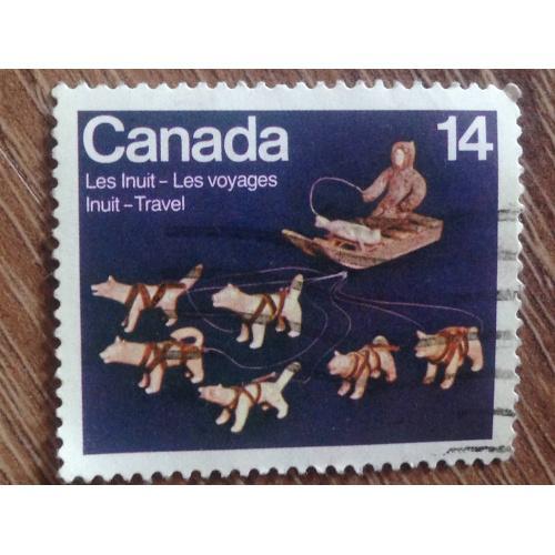 Марка. Канада. Inuit Travel. '