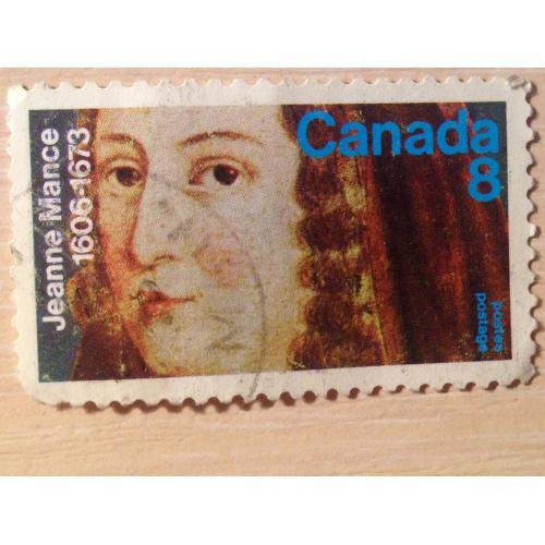 Марка. Канада. Jeanne Mance.