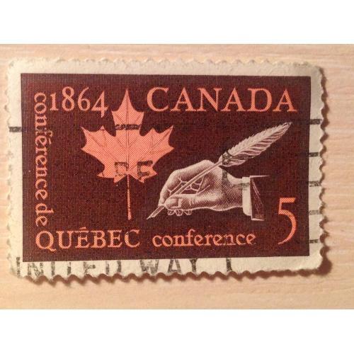 Марка. Канада. Quebec conference.
