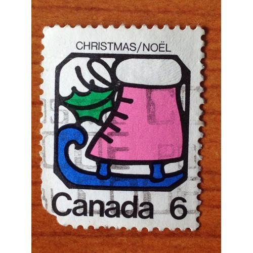 Марка. Канада. Рождество. 1973 г.