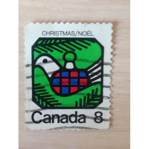 Марка. Канада. Рождество.