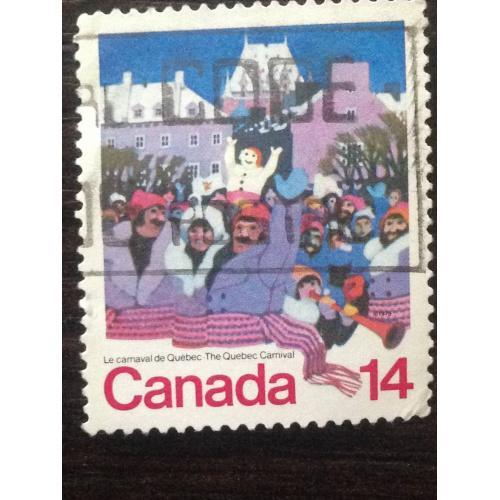 Марка. Канада. The Quebec Carnaval. ®