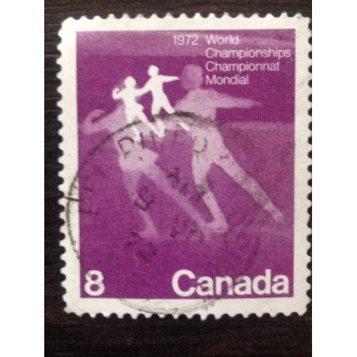 Марка. Канада. World Championnat Mondial 1972. ®