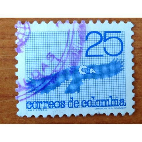 Марка. Колумбия. 25 c. 1986 г.