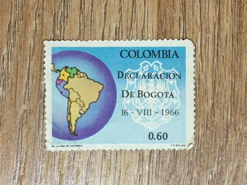 Марка. Колумбия. Карта