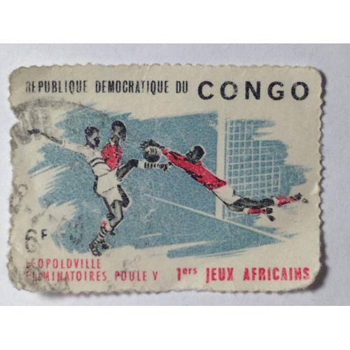 Марка. Конго. 6 F. ᴖ