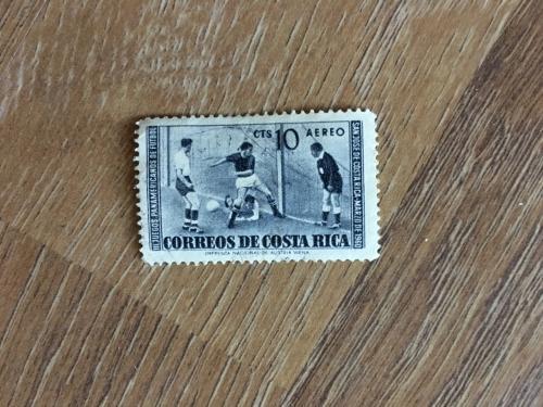 Марка.  Коста Рика. Футбол