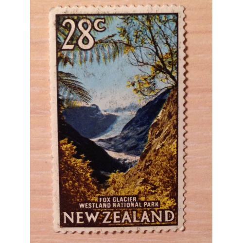 Марка. Ледник Фокса. Новая Зеландия.