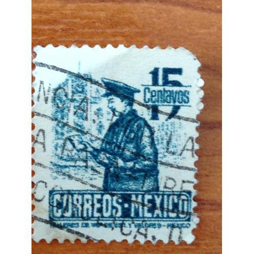 Марка. Мехико. 15 centavos.