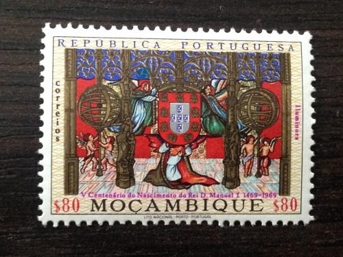 Марка. Мозамбик.  1969.