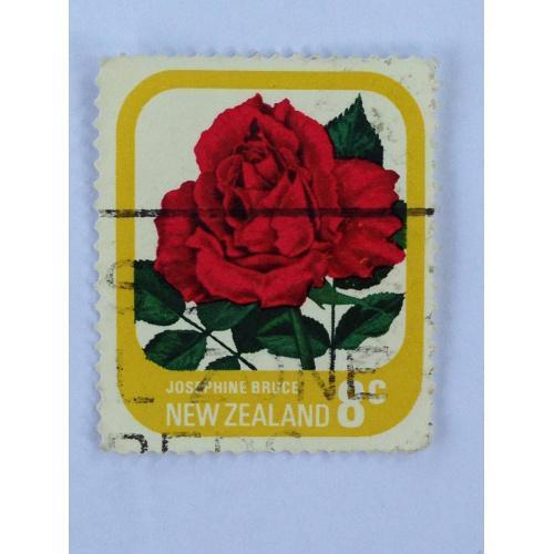 Марка. Новая Зеландия. 8 центов *