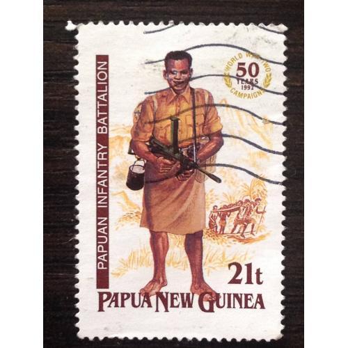 Марка. Пехотный батальон. Папуа-Новая Гвинея. 21 t.
