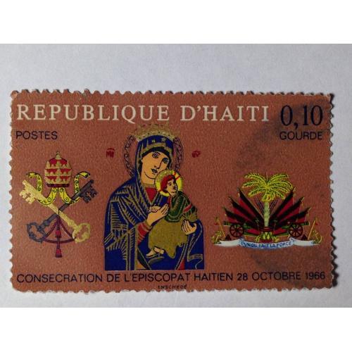 Марка. Республика Гаити 0,10 gourde. ᴖ