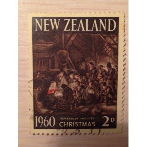 Марка. Рождество 1960. Новая Зеландия.