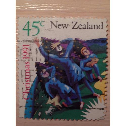 Марка. Рождество 1991. Новая Зеландия.