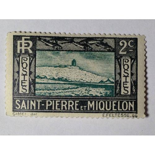 Марка. Сен-Пьер (Мартиника). 2 цента. *