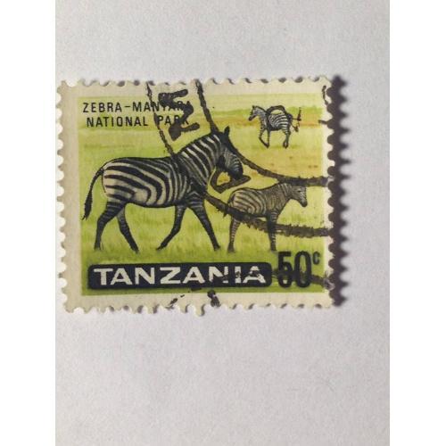 Марка. Танзания. 50 центов. *