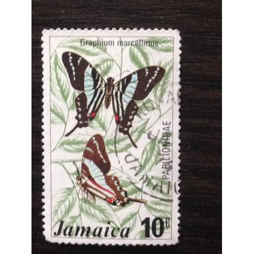 Марка. Ямайка. Бабочки. 10 с.